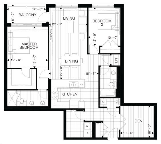 Villas Of Avon Condos By Tricar Earl Floorplan 2 Bed Amp Bath