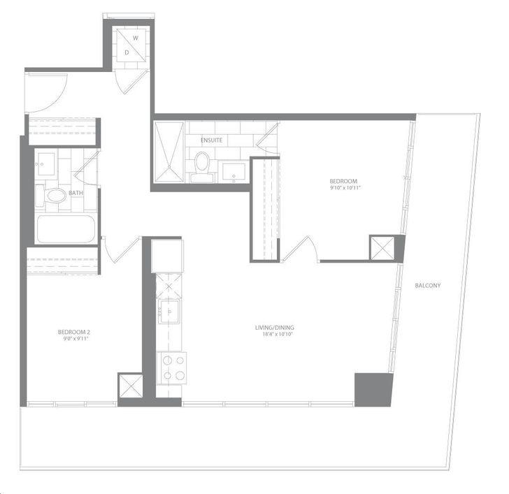 Water Tower At Eau Du Soleil By Empire Arctic Floorplan 2 Bed 2 Bath