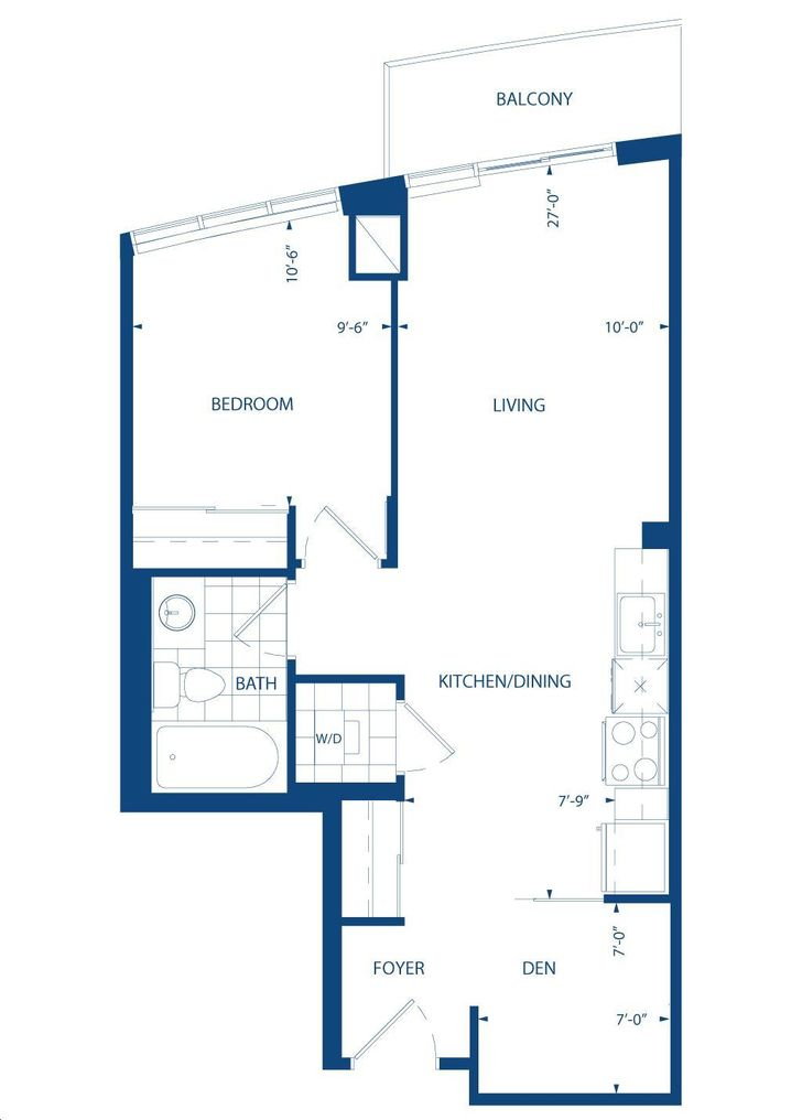 World On Yonge By Liberty Cairo Floorplan 1 Bed Amp 1 Bath