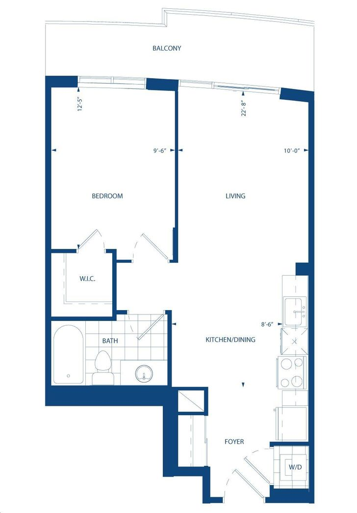 world on yonge by liberty paris floorplan 1 bed 1 bath