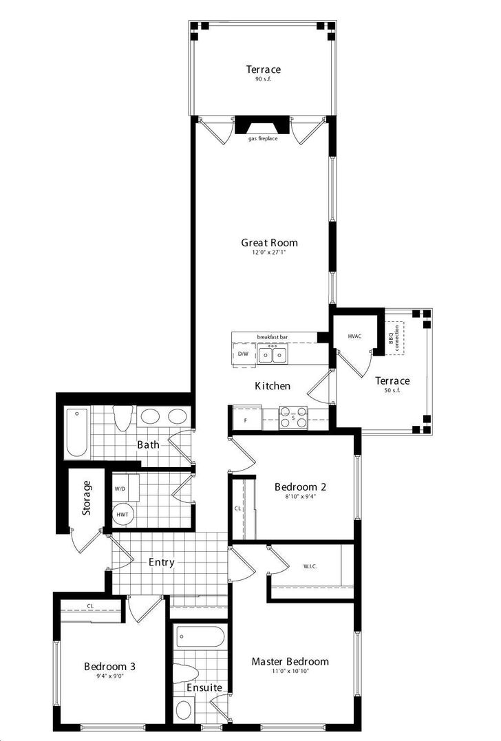 Wyldewood Cove By Brandy Lane Erie Floorplan 3 Bed Amp 2 Bath