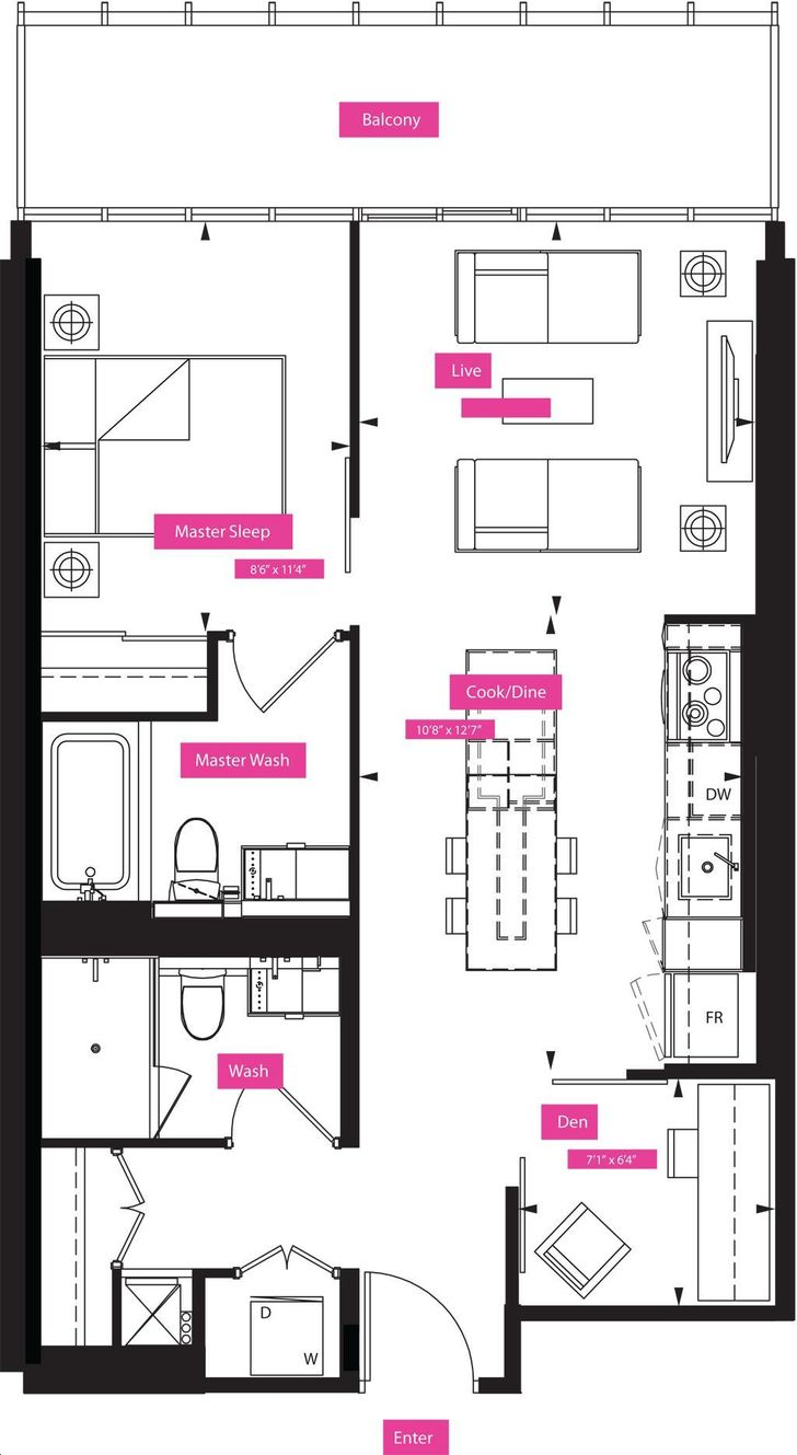 X2 Condos By Great Gulf Hempel Floorplan 2 Bed Amp 2 Bath