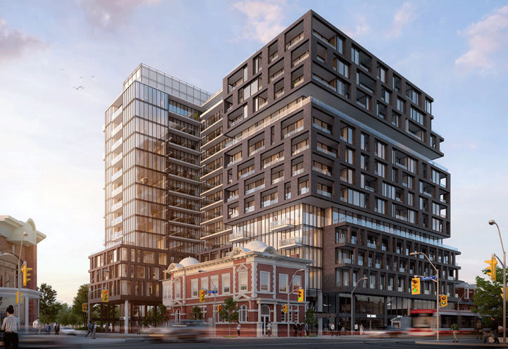 Street View of XO Condos at 1182 King St W, Toronto, ON