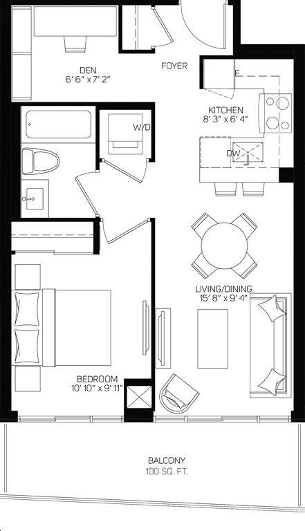 Xpression Condos On Yonge By Zancor Bliss545 Floorplan 1