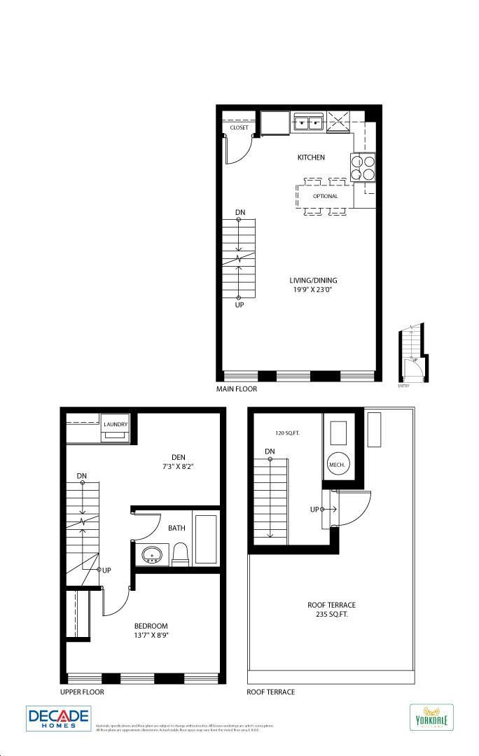 Yorkdale Village Townhomes By Decade Walton Floorplan 1